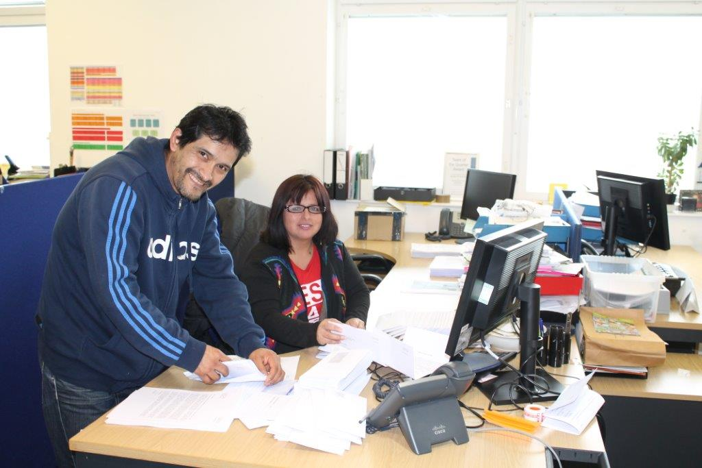 Residents Walter & Patricia utilising the Job Port job searching service