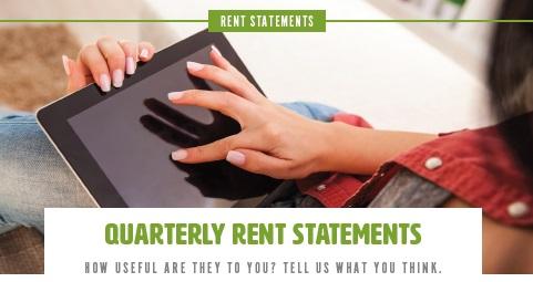 Quarterly Rent Statements