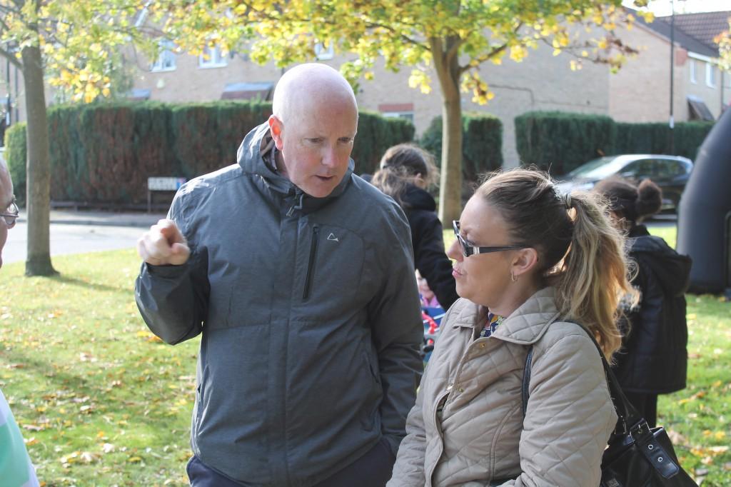 Tom and resident at Jacksons Way, Croydon
