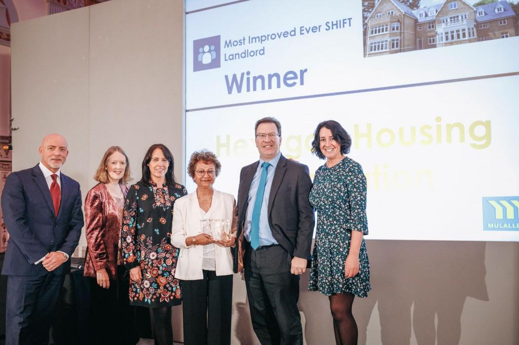 Hexagon Staff receiving the SHIFT Award